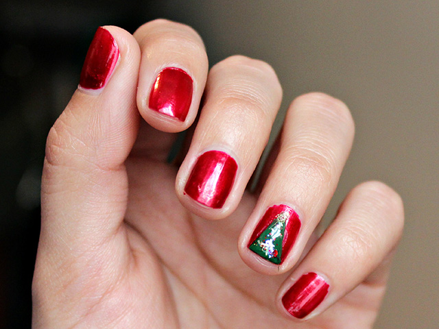 DIY: Uñas de árbol navideño - Blog Flexi