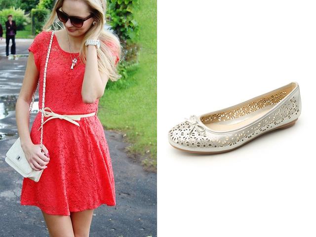 Zapatillas para vestido de noche color coral