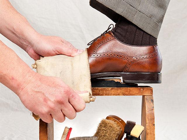 Resultado de imagen de limpieza calzado piel