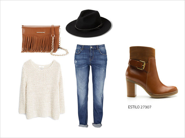 Outfits Con Botines Cafes Camel