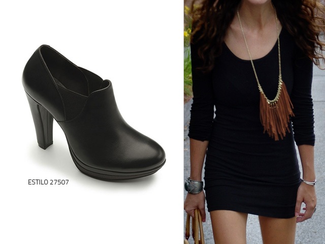 Que zapatos para vestido negro