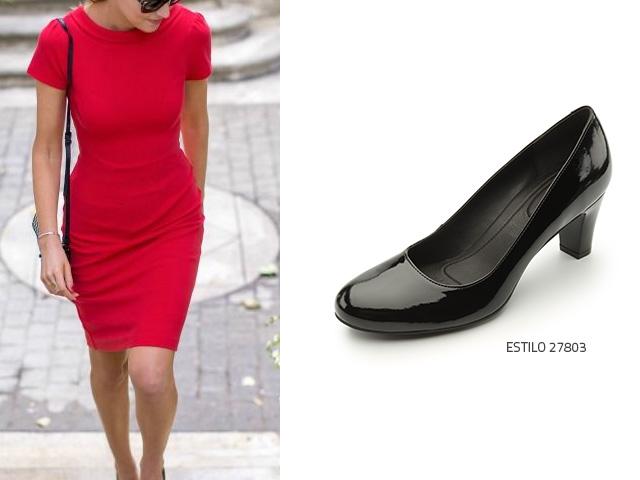 Zapatos rojos Tacón de cuña formales para mujer W4A8xWDH