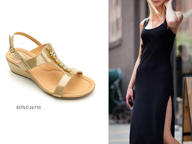 Sandalias para vestido negro