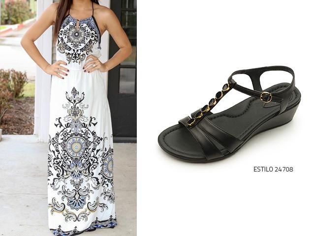 Zapatos comodos para vestidos largos