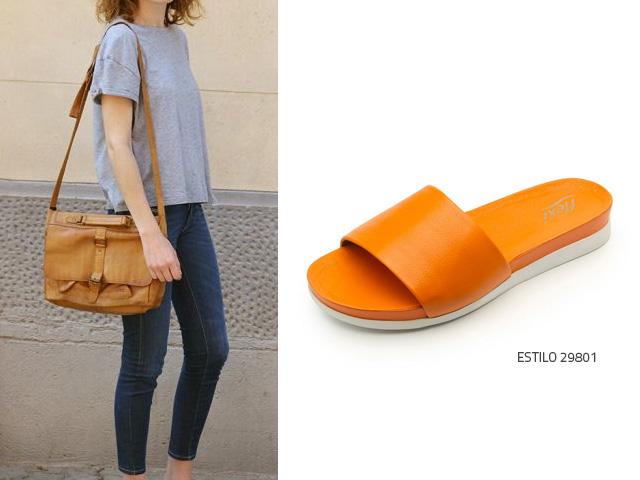 C mo usar zapatos color naranja blog flexi - Como conseguir color naranja ...