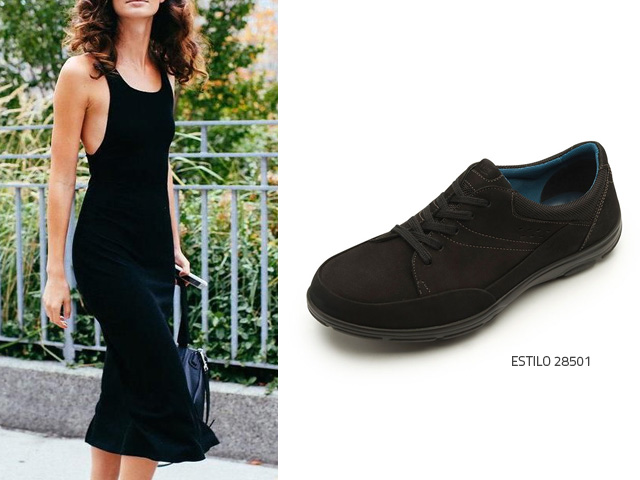 vestido-negro-con-sneakers-negros - Blog Flexi 1321fb756cd
