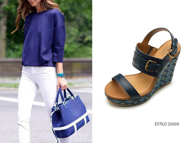 Pantalon Azules Sandalias Y Blanco Flexi Blog BCQrdeWxo