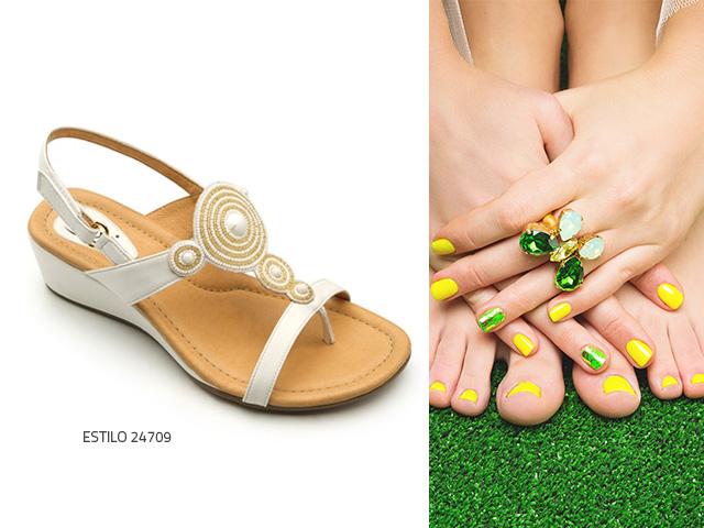 colores de uñas verano 2018 combina pedicura y sandalias
