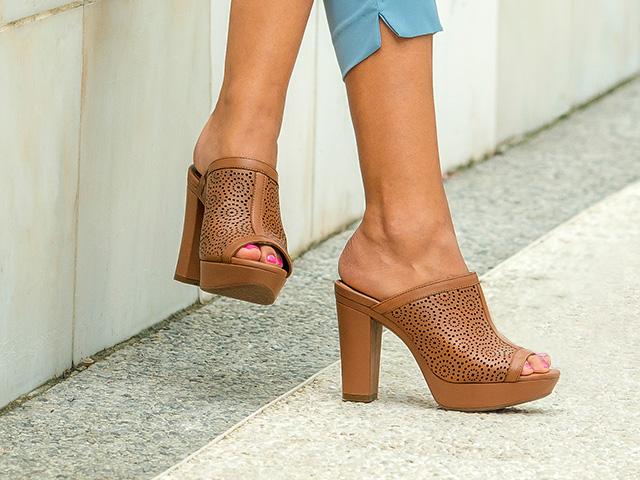 Zapatos naranjas formales para mujer xdCod