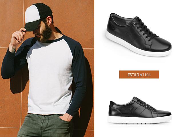 Flexi Suela Con Blog Blanca Negros Hombre De Sneakers 7bvYgyf6