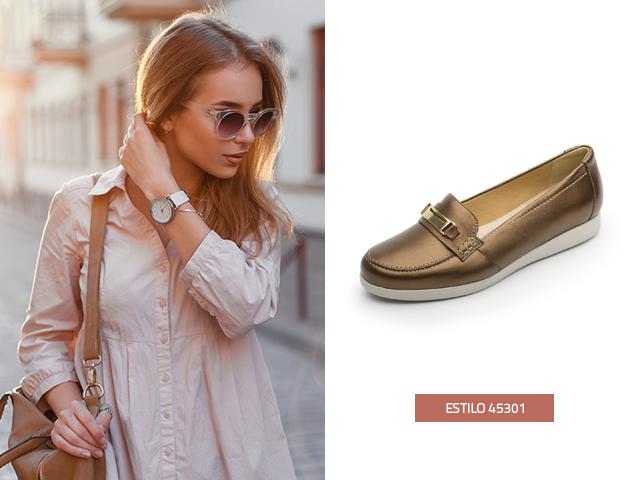 Prepárate para estar a la moda con el tono metalizado en tu calzado