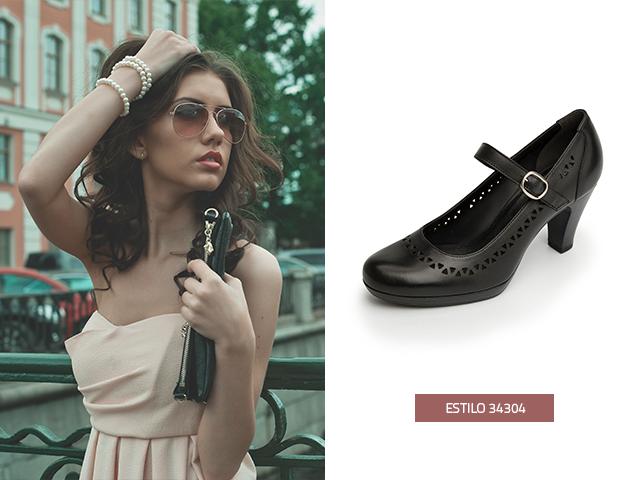 Unos zapatos negros son básicos para el look de cualquier chica