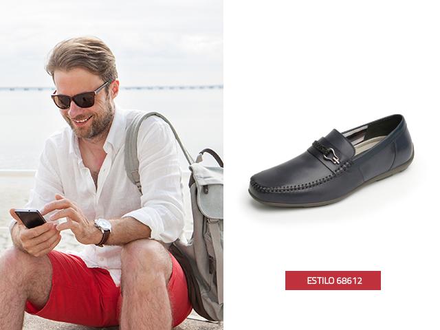 Este modelo de zapatos para hombres combina de maravilla con unos pantalones cortos.