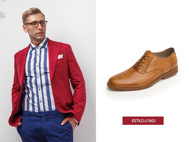 Las rayas verticales combinan muy bien, con este estilo Oxford de zapatos para hombres.