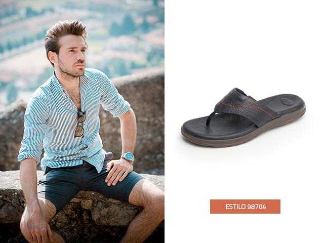 Las sandalias para hombre con estilo pata de gallo son ideales para un look clásico y fresco