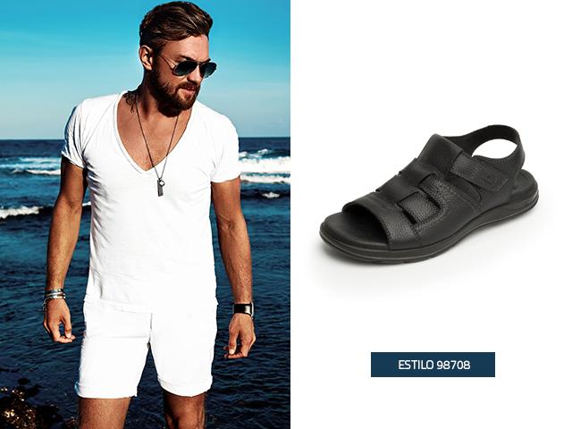 El estilo semi cerrado en las sandalias para hombre, es perfecto para que puedas moverte con toda la libertad que necesitas