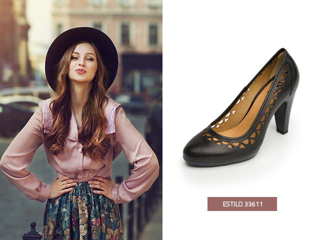 Las zapatillas de moda negras con detalles perforados hacen que tus pies luzcan sofisticados
