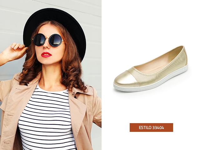Los zapatos de mujer de piso metalizados son un must esta temporada, en Flexi encontrarás este modelo seguro robaras miradas