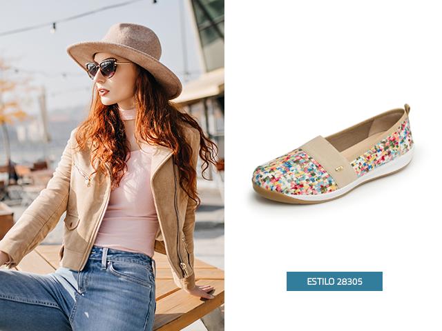 Si quieres lucir casual y moderna en un día de campo, estos zapatos de mujer de piso estilo sneaker son el modelo indicado puedes hacer varias combinaciones con tu atuendo