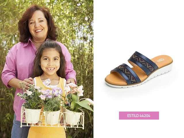 Esta temporada encontrarás sandalias para usar este verano, una opción más de regalos para abuelos, este modelo con dos tiras en colores metalizados es un diseño moderno y cómodo que le encantará a tu abuelita