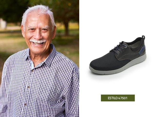 Este zapato estilo sneaker es una buena opción para agregar a la lista de regalos para abuelos, son cómodos y su diseño es moderno, le encantará