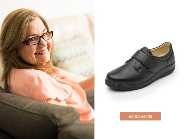 El calzado para el cuidado de la salud de los pies es otra opción de regalos para abuelos, este modelo de Flexi está diseñado con Sistema Soft Care especial para personas que padecen diabetes