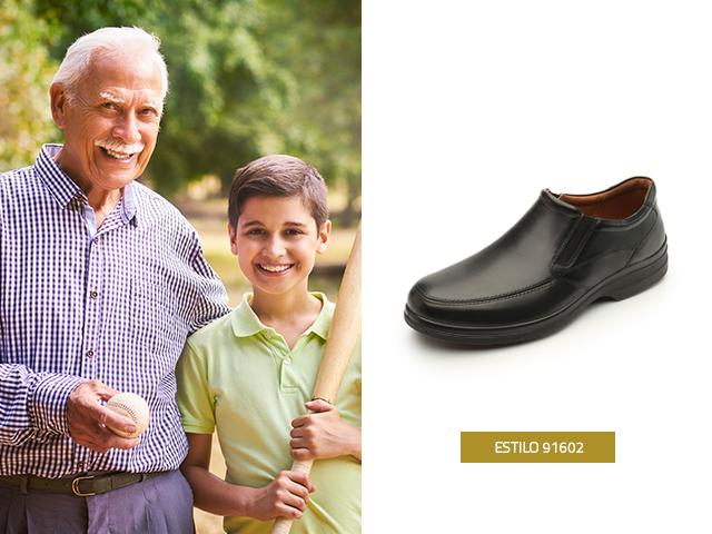 Tener una lista de regalos para abuelos ayuda para tomar la decisión de que elegir a la hora de comprar, este modelo en color negro es muy cómodo, además, cuenta con elásticos laterales que le dan mayor ajuste al pie
