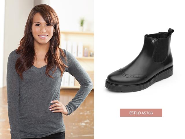 232bf897dc Una de las tendencias de esta temporada en botas para mujer es el estilo  Chelsea con detalles tipo bostoniano como estas botas Flexi.