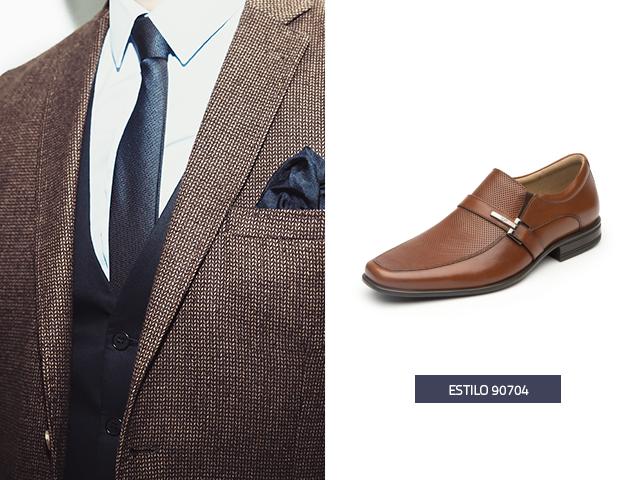 4d9309cb8d7 ... del mismo tono de tu traje, es decir, si vas a usar un traje beige,  elige unos zapatos cafés en lugar del mismo beige para dar contraste y  equilibrio.