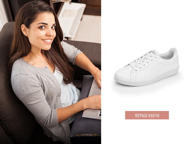 Sneaker Clásico Blanco Flexi