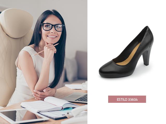 Zapatilla media-plataforma-negra Flexi