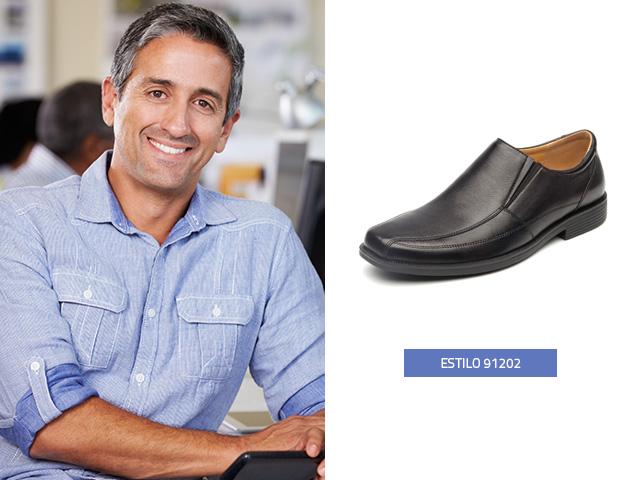 zapato-elastico-casual-negro Flexi