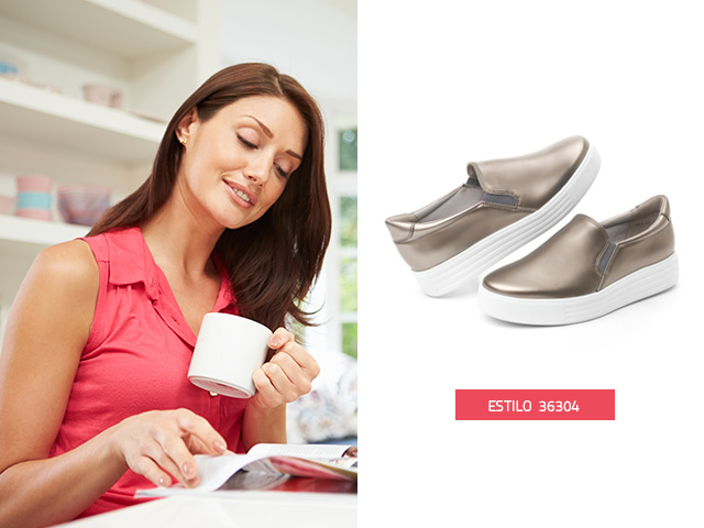 sneaker-suela-gruesa-plata Flexi