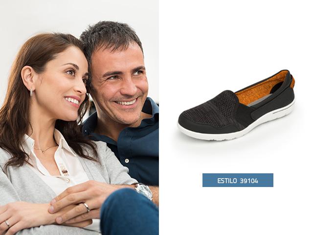 sneaker-tejido-elasticos-negro Flexi