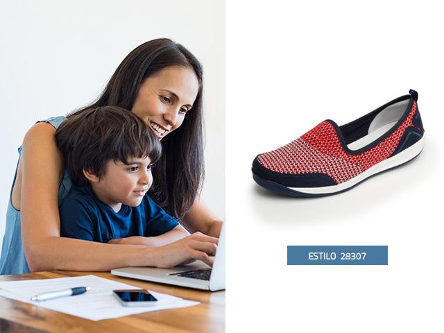 sneaker-tejido-rosa Flexi