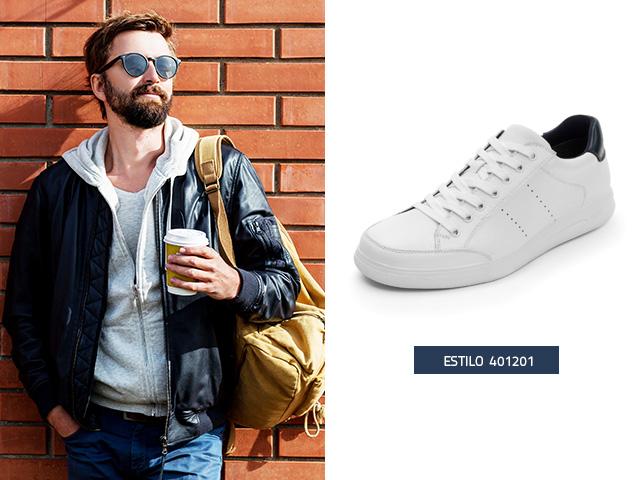 Sneaker urbano clasico blanco Flexi