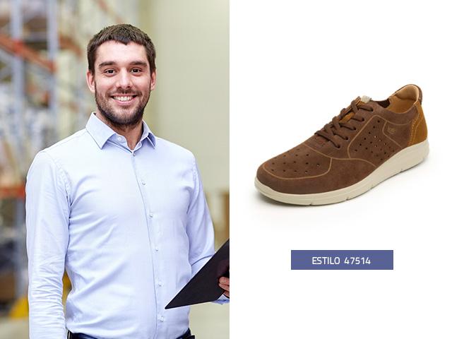 9a94c32efef ... zapatos de hombre 2019 ideales para caminar. Sneaker urbano gamuza Flexi