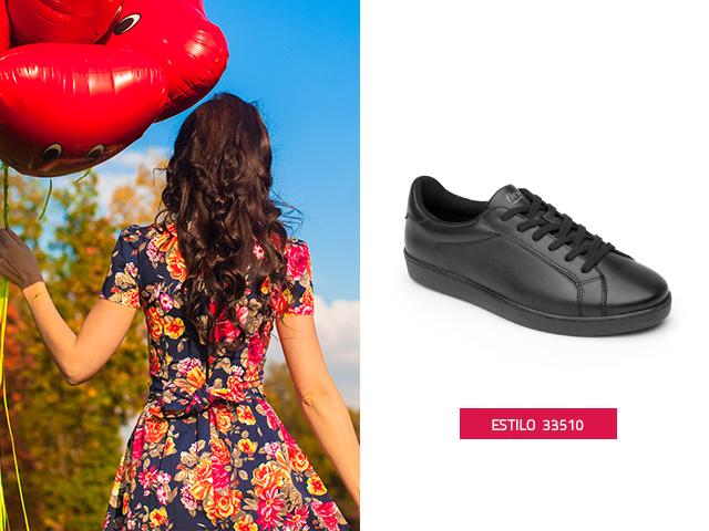 Sneaker clásico negro Flexi