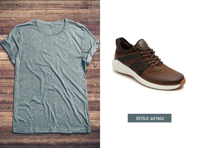 Sneaker urbano aplicaciones-chocolate Flexi