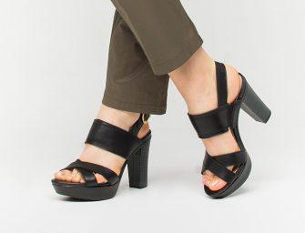 Zapatillas de tacón grueso para salir de noche