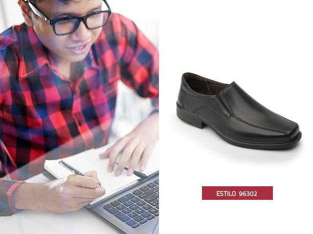 Zapato punta cuadrada Flexi