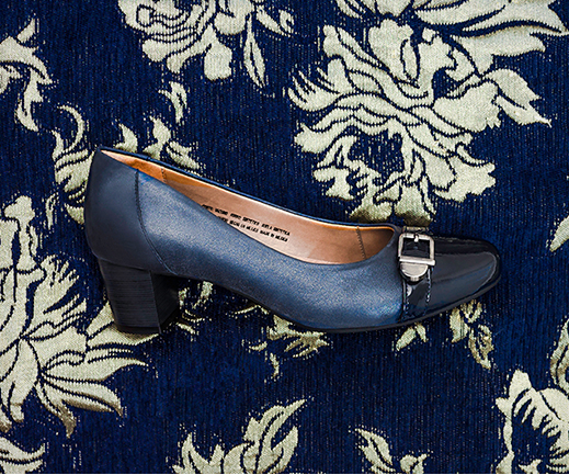 azul zapato azul tacon zapato terciopelo RqYwnfwaF