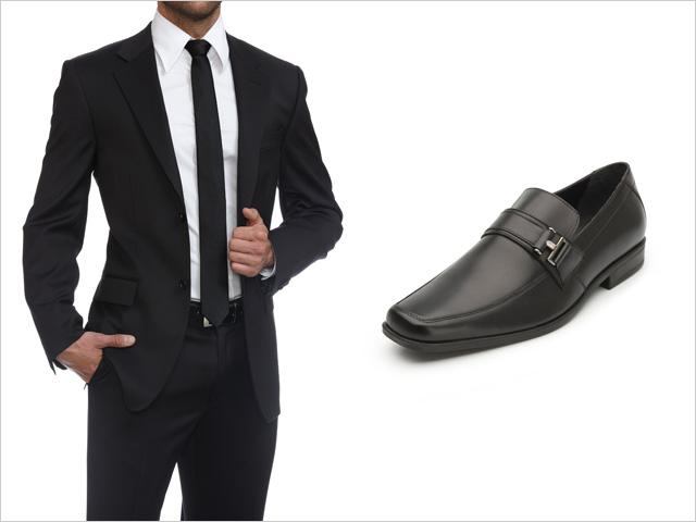 Shoe Color With Dark Blue Suit