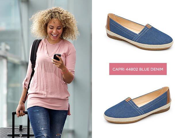 061dae16 Si buscas unos zapatos bajos que tengan detalles únicos, los zapatos Capri  en mezclilla azul son para ti. Estos zapatos bajos para mujer le dan un  toque ...