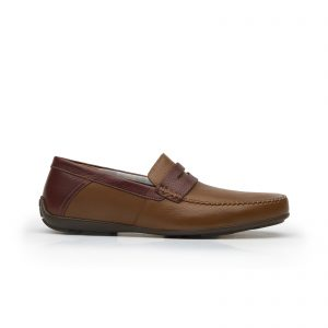 Soho 68607 tan leather penny loafer