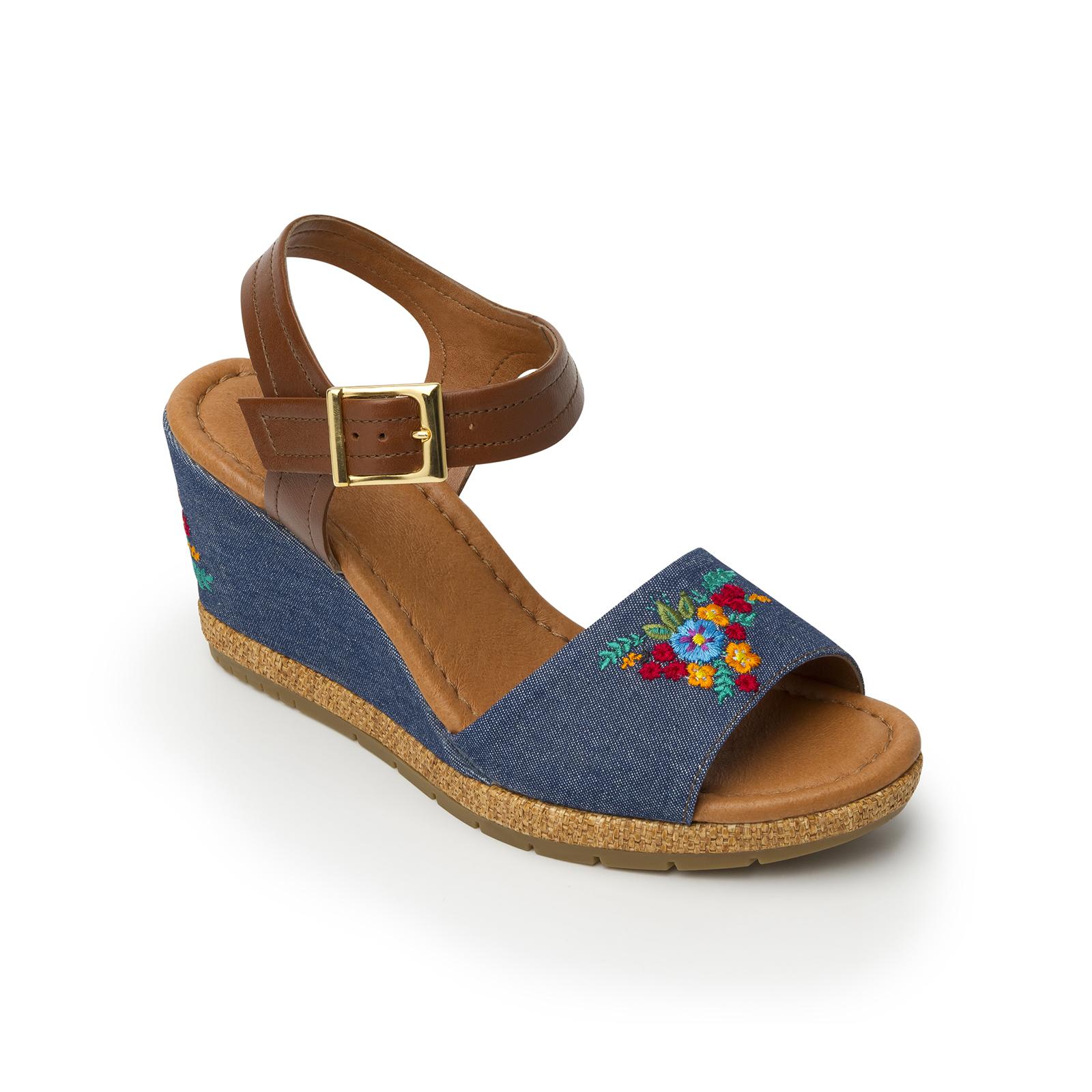 Xilitla 35601 In Blue Denim Women S Sandal Flexi Shoes